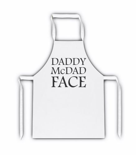 Daddy McDad Face Funny White Adult Apron